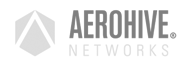 Aerohive logo grijs