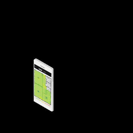Smartphone met site survey tool